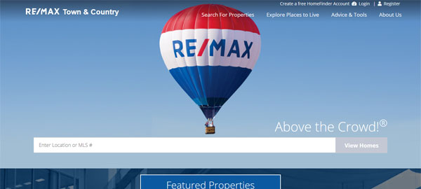 RE/MAX Town & Country website