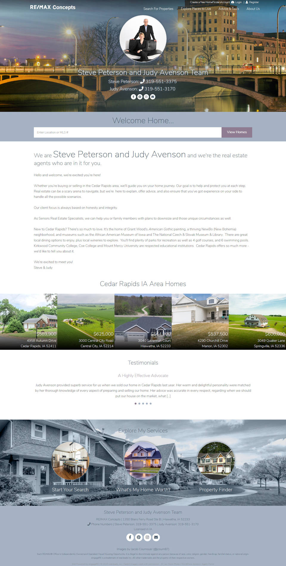 Steve Peterson and Judy Avenson Team full screenshot