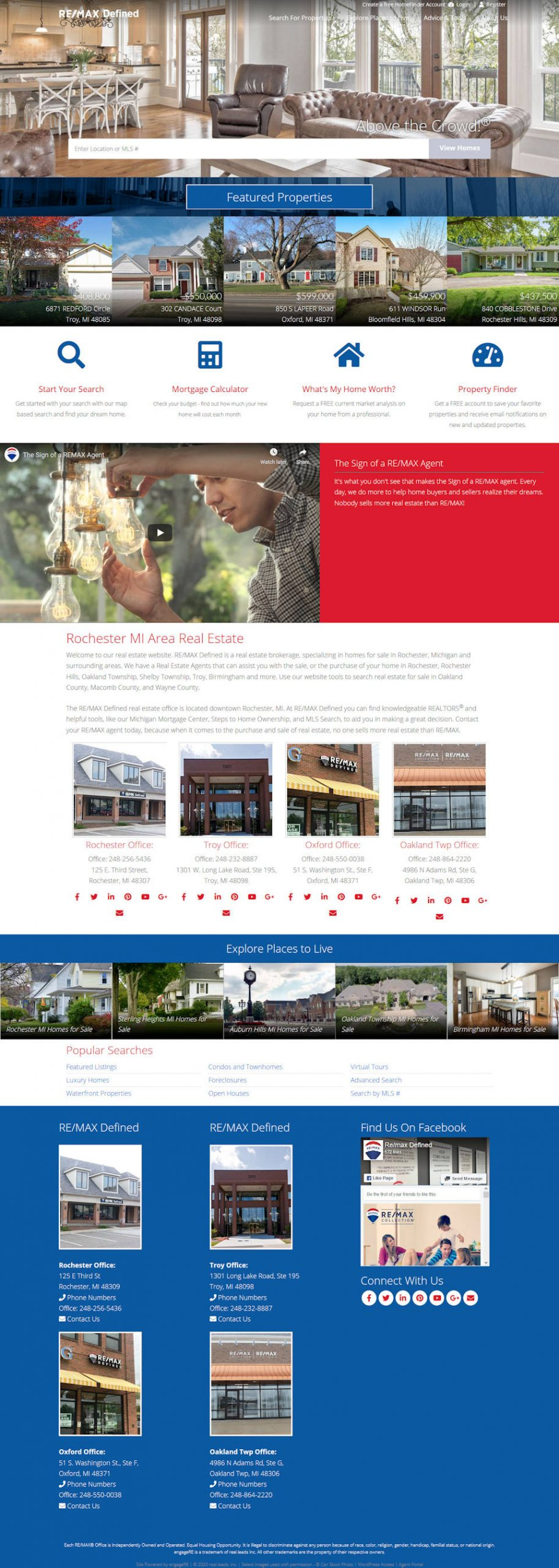 RE/MAX Defined full website screenshot