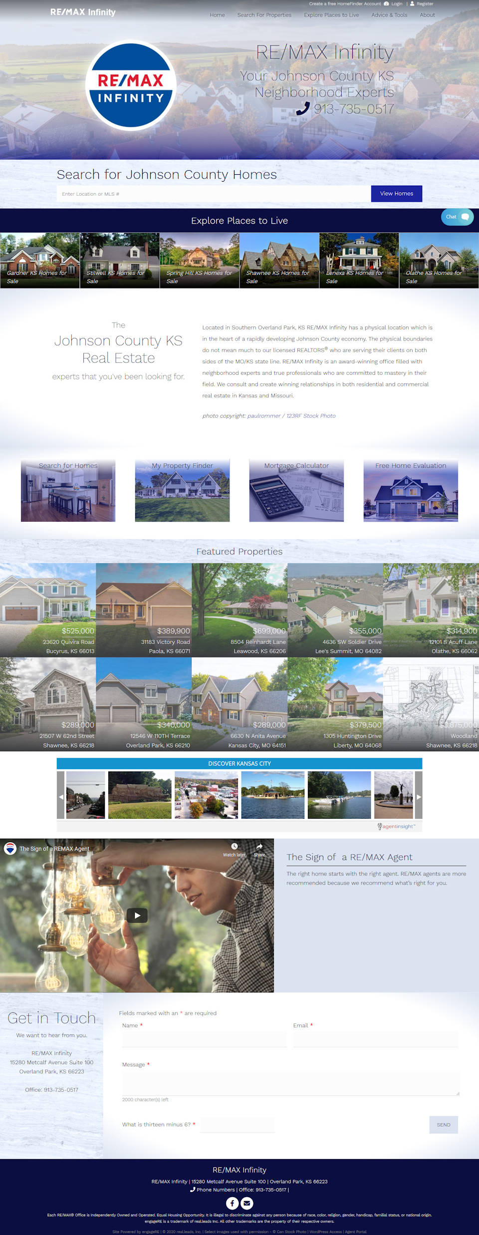 RE/MAX Infinity full screenshot